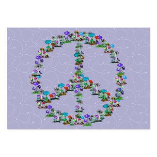 Cogumelos da paz cartão de visita