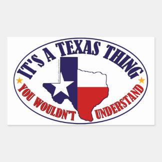 Coisa de Texas Adesivo Em Forma Retangular