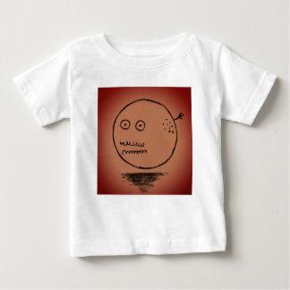Coisa feliz da lua da cara camiseta para bebê