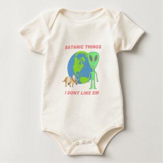 Coisas satânicas eu não gosto d - terra lisa body para bebê