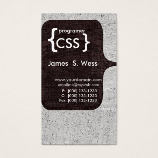Colaborador de software informático moderno de cartão de visitas