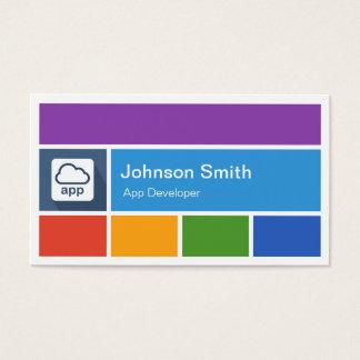 Colaborador móvel do App - estilo moderno criativo Cartão De Visitas