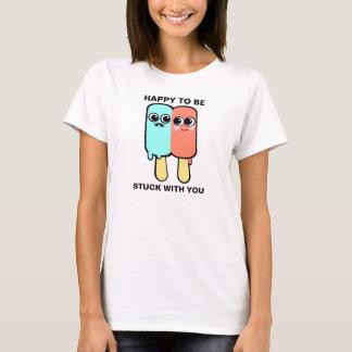 Colado com você camiseta