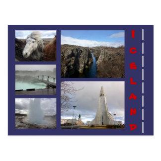 Colagem 1 de Islândia Cartão Postal