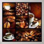 Colagem 2 do café pôsteres