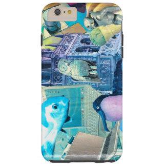 colagem animal da tecnologia do robô surreal capas iPhone 6 plus tough