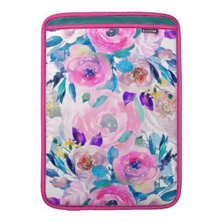 Colagem colorida das flores bolsa de MacBook air