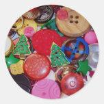 Colagem com os botões da árvore de Natal Adesivo