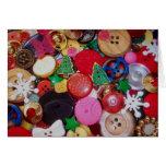 Colagem com os botões da árvore de Natal Cartao