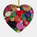 Colagem com os botões da árvore de Natal, Enfeite De Natal