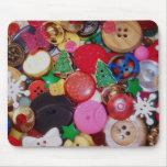 Colagem com os botões da árvore de Natal Mouse Pads