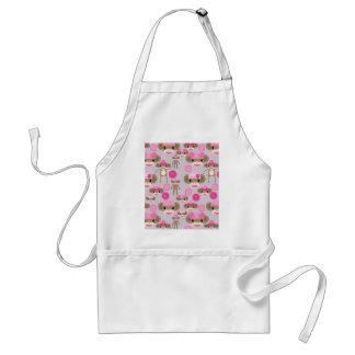 Colagem cor-de-rosa feminino bonito do teste avental