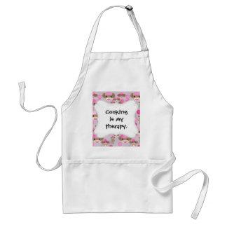Colagem cor-de-rosa feminino bonito do teste padrã avental