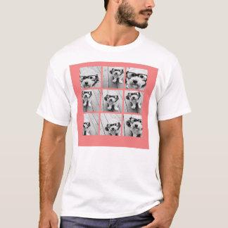 Colagem coral da foto de Instagram com 9 fotos Camiseta