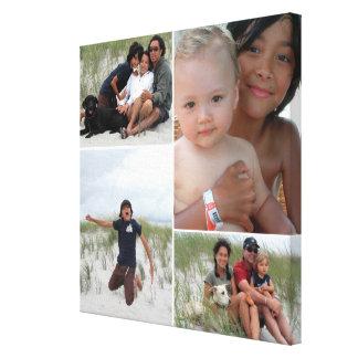 Colagem customizável da foto de família impressão em canvas