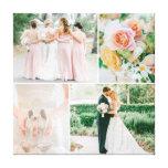 Colagem customizável da foto do casamento impressão em canvas