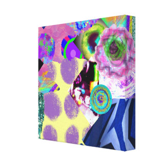 Colagem da arte abstracta impressão em tela