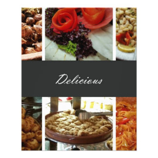 Colagem da comida panfleto coloridos