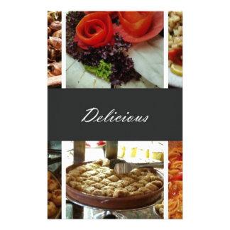 Colagem da comida panfletos personalizados