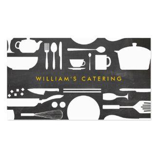 Colagem da cozinha de Groupon no fundo do quadro Cartão De Visita