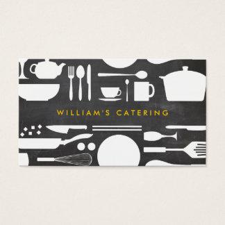 Colagem da cozinha de Groupon no fundo do quadro Cartão De Visitas