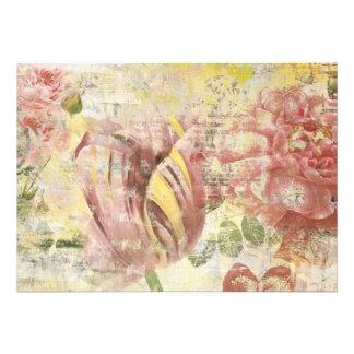 Colagem da flor da tulipa convite