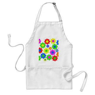 Colagem da flor do hippy avental