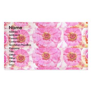 Colagem da flor do ZINNIA - romance sensual Cartão De Visita