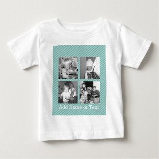 Colagem da foto de Instagram 4 imagens - listras Camiseta Para Bebê