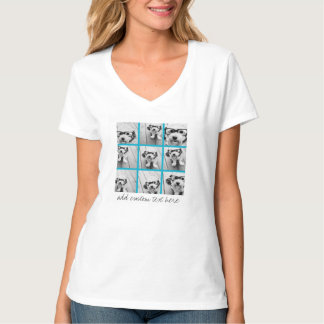 Colagem da foto de Instagram do Aqua com as 9 Camiseta