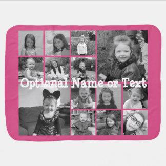Colagem da foto de Instagram - rosa de até 14 Mantas Para Bebe