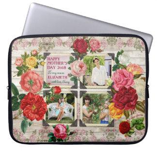 Colagem da foto do vintage de Instagram dos rosas Capa De Notebook