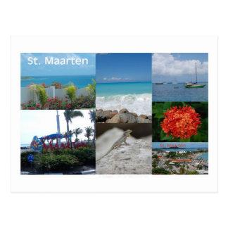 Colagem da fotografia do St. Maarten-Sint Martin Cartão Postal