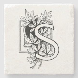 """Colagem da letra """"S"""" do monograma Porta Copos De Pedra"""