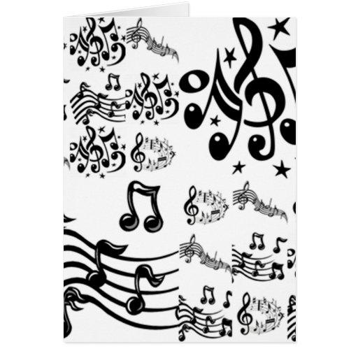 Colagem da nota musical cartões