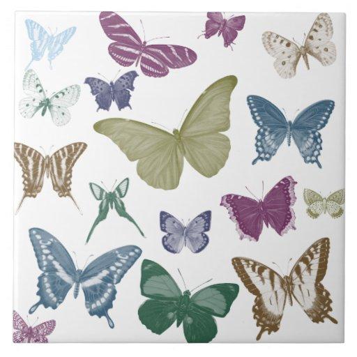 Colagem das borboletas azulejos