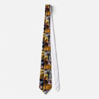 Colagem das fotos da guitarra gravata