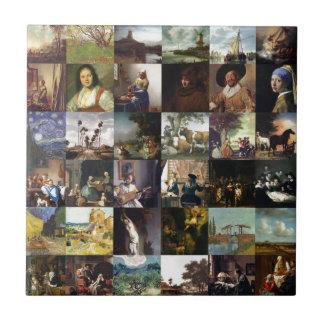 Colagem das pinturas de Van Gogh, de Vermeer, etc. Azulejos De Cerâmica