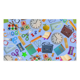 Colagem de fontes de escola cartão de visita