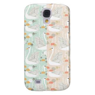 Colagem de Geo da lagoa do lírio da cisne Galaxy S4 Cover