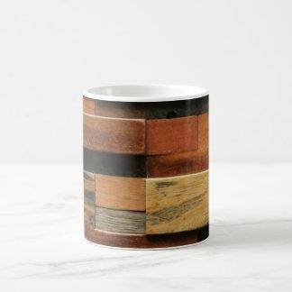 Colagem de madeira Textured multicolorido Caneca De Café