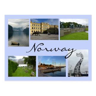 Colagem de Noruega Cartão Postal