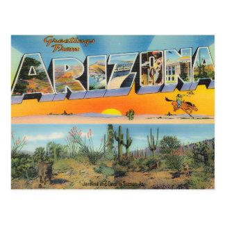 Colagem do cartão da arizona do vintage