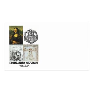 Colagem do gênio de Leonardo da Vinci (trabalhos Cartão De Visita