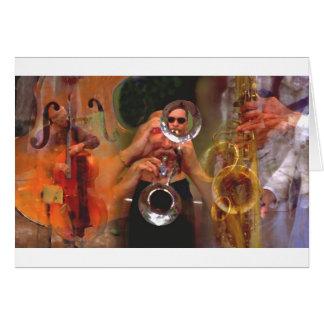 Colagem do músico cartão comemorativo