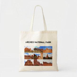 Colagem do parque nacional dos arcos, Utá, saco Bolsa Para Compra