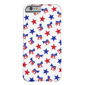 Colagem do partido Democrática Capa Barely There Para iPhone 6