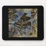 Colagem do piano de cauda mouse pad