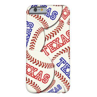 Colagem dos basebol de Texas Capa Barely There Para iPhone 6