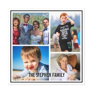 Colagem feita sob encomenda da foto de família da  impressão em tela canvas
